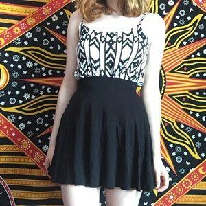 Basic Black Skater/Circle Skirt